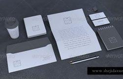黑色系列VI提案贴图 Blank Stationery / Branding Mock-Up