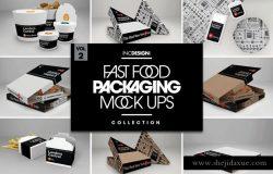 肯德基麦当劳KFC快餐外卖盒包装样机展示模型mockups大集合