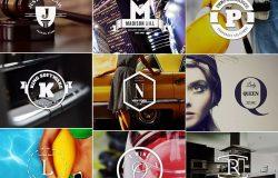 26个英文字母图形Logo&徽章设计模板合集