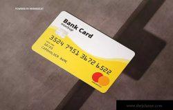 银行卡/会员卡版面设计效果图样机模板