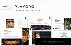 国际家地理杂志设计风格的高品质时尚高端powerpoint幻灯片演示