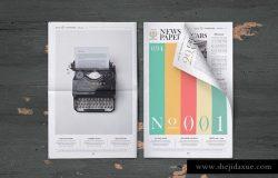 10款高清高分辨率报纸样机模板
