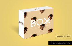 包装盒模型PSD贴图模板Box Packaging Mock