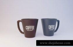 杯子马克杯咖啡杯包装样机贴图展示PSD模板 Mug Mockup