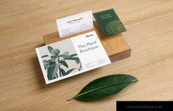 高端企业品牌VI设计效果预览办公用品套装样机v1 Flora Branding Mockup