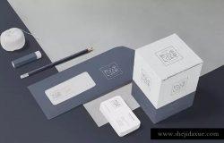企业办公用品套装样机模板 5 Envelope & Letter Mockups