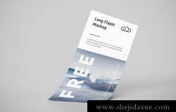 长条传单贴图样机PSD模板素材免费下载 Long flyer mockup