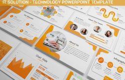IT解决方案展示技术演讲Powerpoint模板