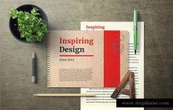 记事本笔记本封面设计样机 Notebook Cover Mock-Up Set