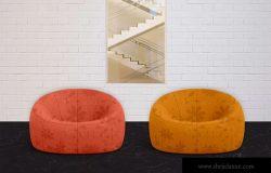创意布艺沙发设计图样机模板 Sofa Mockups