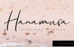 钢笔签名体英文书法字体下载 Hanamusa Signature Fon
