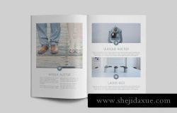 优雅简约的摄影师设计师自由工作者个人简历杂志INDD模板 Portfolio Magazine