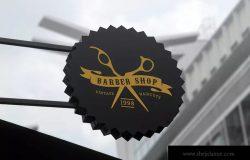理发店店招Logo标志设计模板 Barber Shop Logo Set