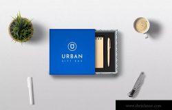 高端礼品包装盒外观设计样机模板 Gift Box Mockups
