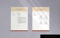 专业个人履历表设计模板