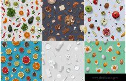 10款食物摄影平面图案素材