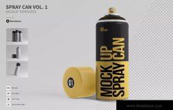 喷雾瓶外观设计样机模板v01 Spray Can Mockup Templates