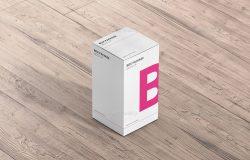 保健品药品包装外观展示样机 Package Box Mock-Up – Rectangle