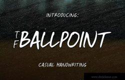 英文圆珠笔手写字体下载 TF-Ballpoint