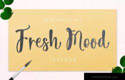 优雅小清新OpenType英文手写字体下载 Fresh Mood
