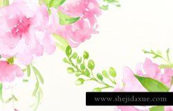 水彩花卉素材
