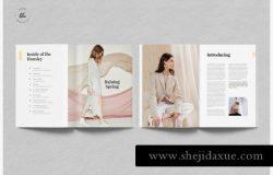 HANSLEY女性时尚杂志设计模板