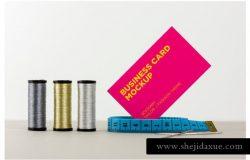 裁缝/时尚服装行业名片样机 Tailor / Fashion Business Cards Mockup