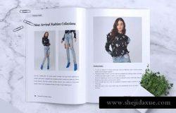 时尚服饰产品目录设计时尚杂志设计模板 CLEOPATRA Lookbook Magazine Fashion