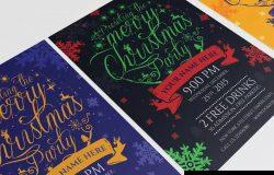 圣诞节活动邀请海报传单设计模板v03 Christmas Party – Flyer Template