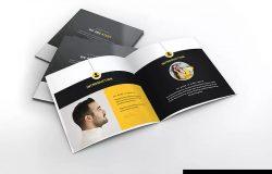 顶尖人才方形个人简历画册设计模板 Atery Resume CV Square Brochure Template