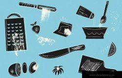 插画师必备的400+手绘纹理元素素材 Small Wonders – 400 Texture Elements