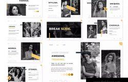 平面模特/创意摄影服务主题Keynote演示文稿模板 Modes | Keynote Template