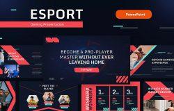 电子竞技-游戏和科技主题PPT演示幻灯片模板