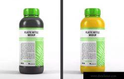 200ML塑料瓶外观设计图样机