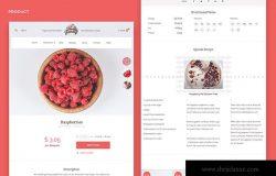 水果生鲜超市网上商城PSD设计模板