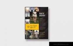 摄影师/摄影服务宣传海报设计模板 Professional Photography Flyer