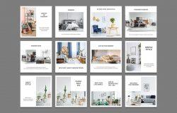81款室内家具产品促销Instagram帖子社交素材