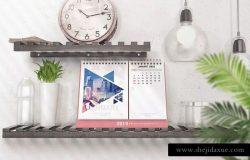 各式各样的桌面日历/台历设计展示样机模板 Various Desktop Calendars Mockup