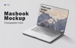 苹果笔记本电脑样机模板