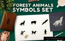 森林动物符号集