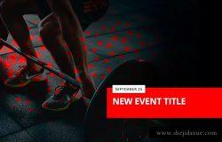 健身/举重和健身俱乐部社交媒体宣传物料素材 Weightlifting Fitness – Social Media Kit
