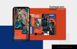 女装时尚服装Instagram社交品牌故事推广设计素材 Instagram Story Template