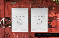 实景张贴效果海报传单样机模板3 Urban Poster Mock-up 3