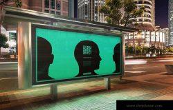 城市夜景海报广告牌设计效果图预览样机#3 Urban Poster-Billboard Mock-Ups – Night Edition