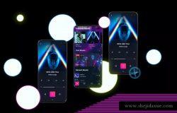 三星智能手机Neon S10全方位UI设计展示样机 Neon S10 mockup