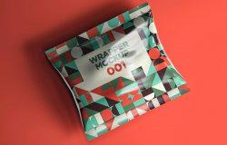 小吃包装袋外观设计样机模板