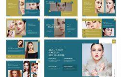 眼影化妆品产品推广PowerPoint演示模板