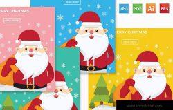 圣诞节元素圣诞老人矢量设计素材 Merry Christmas design