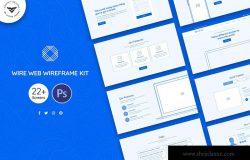企业品牌网站设计线框图套件 Wire Web Wireframe Kit
