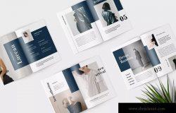 高端女性服装品牌产品目录设计模板 Luccan Fashion Lookbook Catalogue